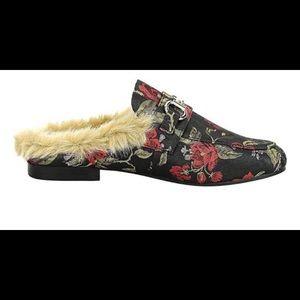 Steve Madden fur loafer